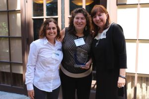 Margo Feinberg, Schwartz, Steinsapir, Dohrmann & Sommers LLP is presented  the Warrior for Workers Award, for her tireless service to give Workers a Voice. Presented by Kathy Finn, Local 770 & Deliana Speights, Local 1428.